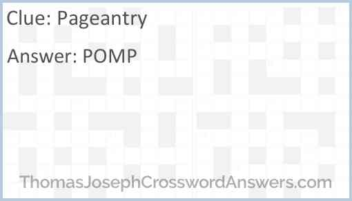 Pageantry Answer