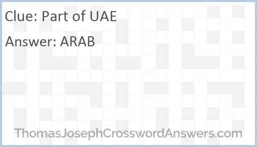 Part of UAE Answer