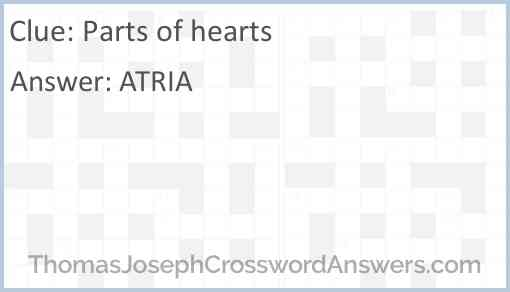 Parts of hearts Answer