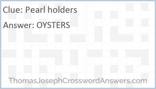 Pearl holders Answer