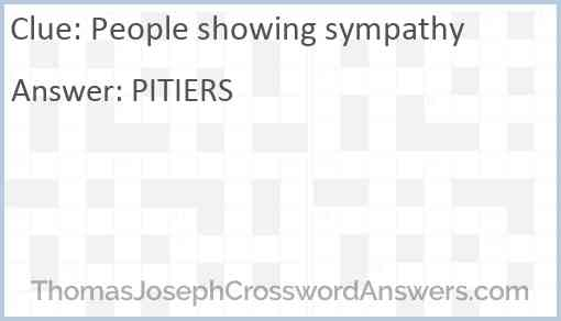 People showing sympathy Answer