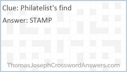 Philatelist's find Answer