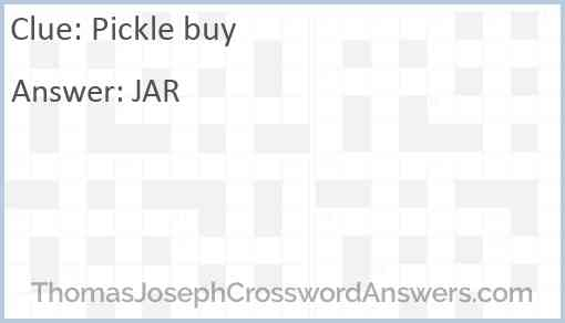 Pickle buy Answer