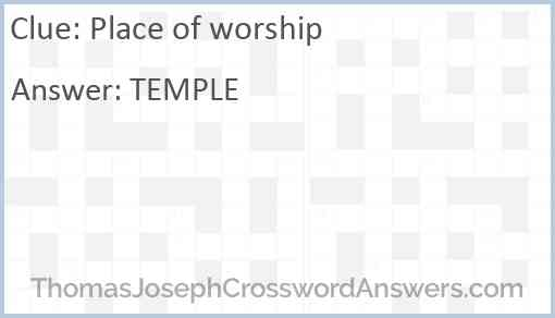 Place of worship Answer