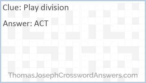 Play division Answer