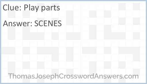 Play parts Answer
