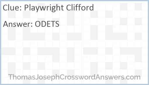Playwright Clifford Answer