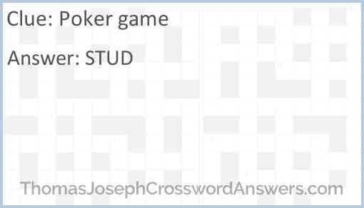Poker game Answer