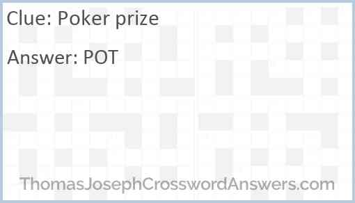 Poker prize Answer