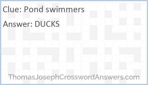 Pond swimmers Answer