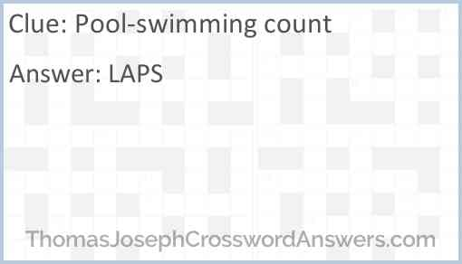 Pool-swimming count Answer