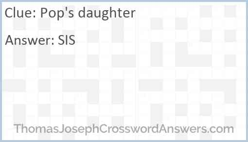 Pop's daughter Answer