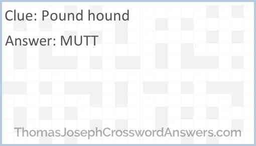 Pound hound Answer