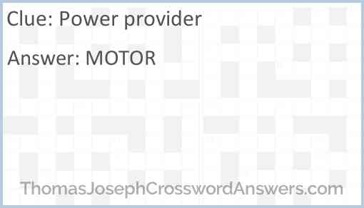 Power provider Answer