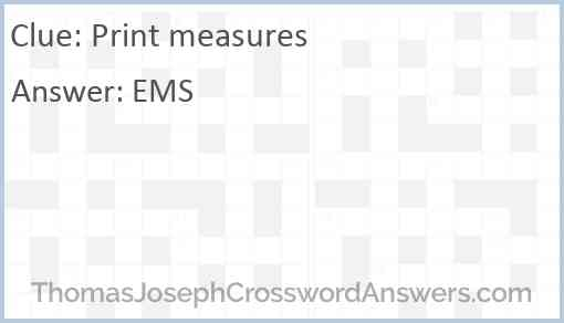 Print measures Answer