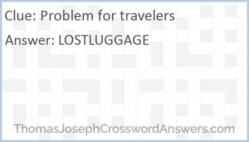 Problem for travelers Answer