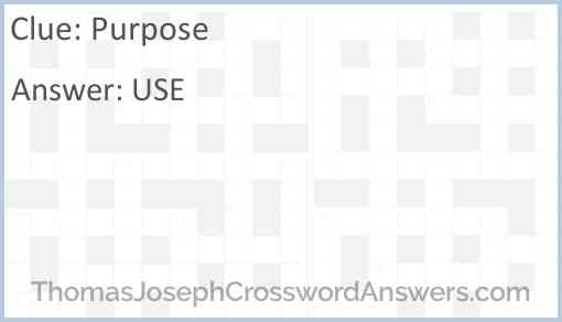 Purpose Answer