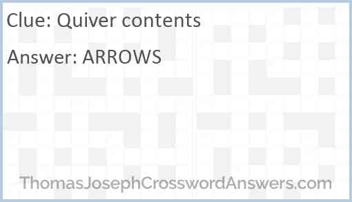 Quiver contents Answer