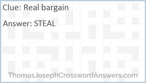 Real bargain Answer