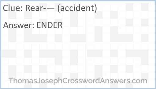 Rear- — (accident) Answer