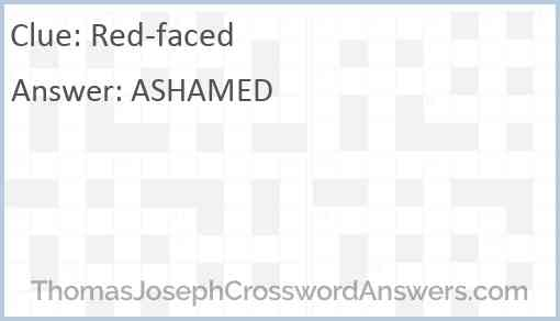 Red-faced Answer
