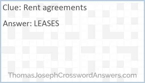 Rent agreements Answer