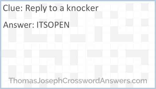 Reply to a knocker Answer