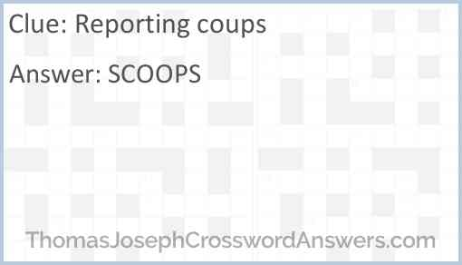 Reporting coups Answer