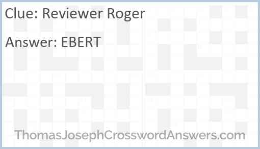 Reviewer Roger Answer
