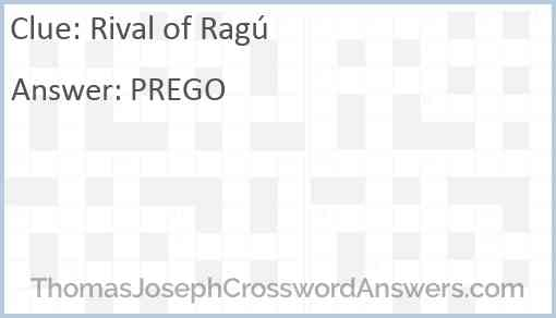 Rival of Ragú Answer