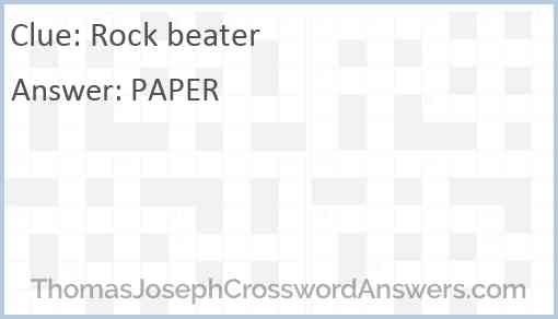 Rock beater Answer