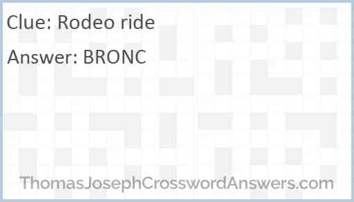Rodeo ride Answer