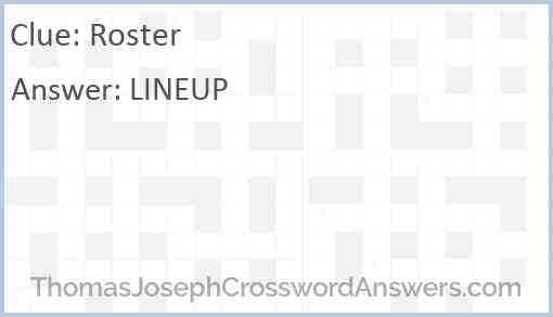 Roster Answer