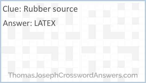 Rubber source Answer
