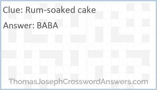 Rum-soaked cake Answer