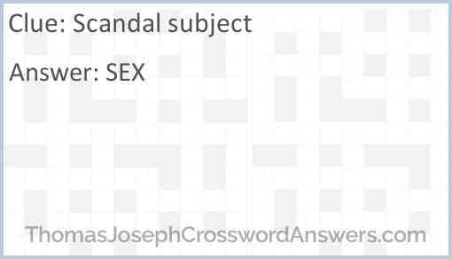 Scandal subject Answer