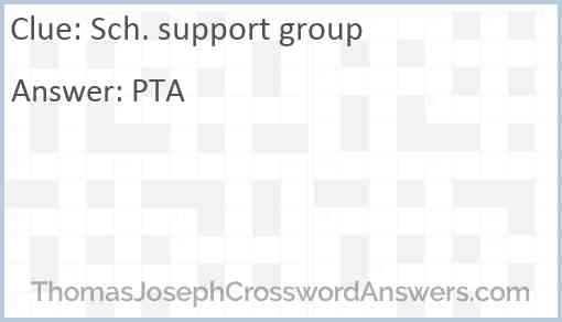 Sch. support group Answer