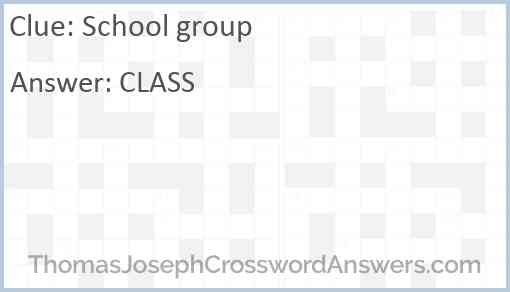 School group Answer