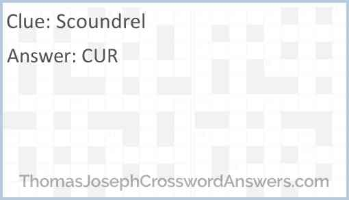 Scoundrel Answer