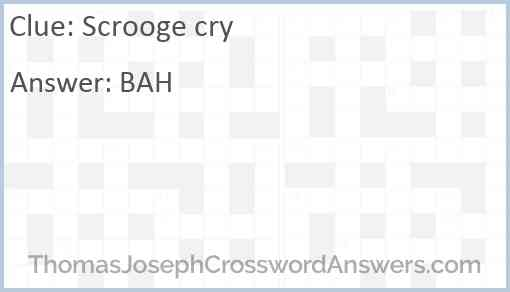 Scrooge cry Answer