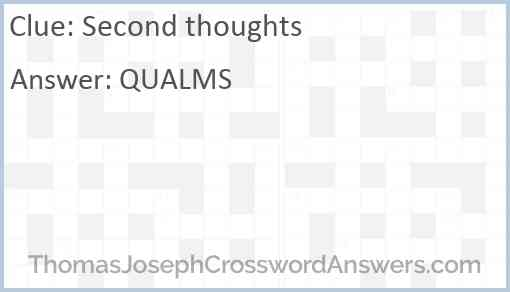 Second thoughts Answer