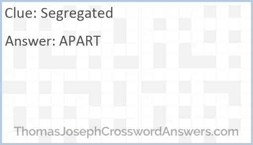 Segregated Answer