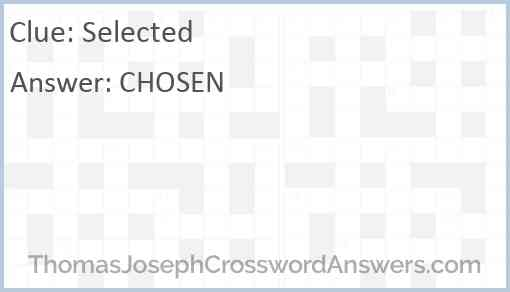 Selected Answer