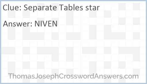 Separate Tables star Answer