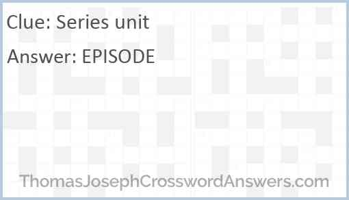 Series unit Answer