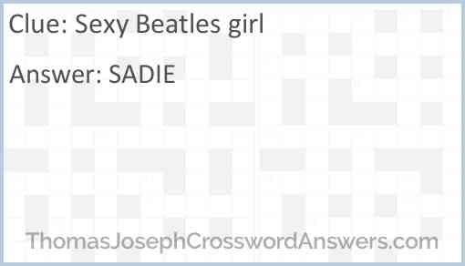 """Sexy"" Beatles girl Answer"