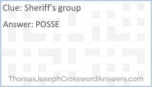 Sheriff's group Answer