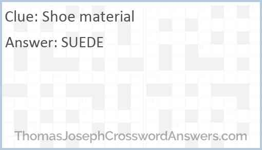 Shoe material Answer