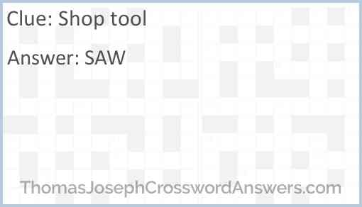 Shop tool Answer