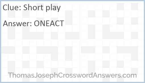 Short play Answer
